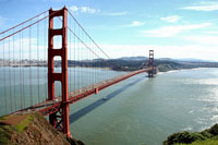 The Golden Gate Bridge in San Francsico